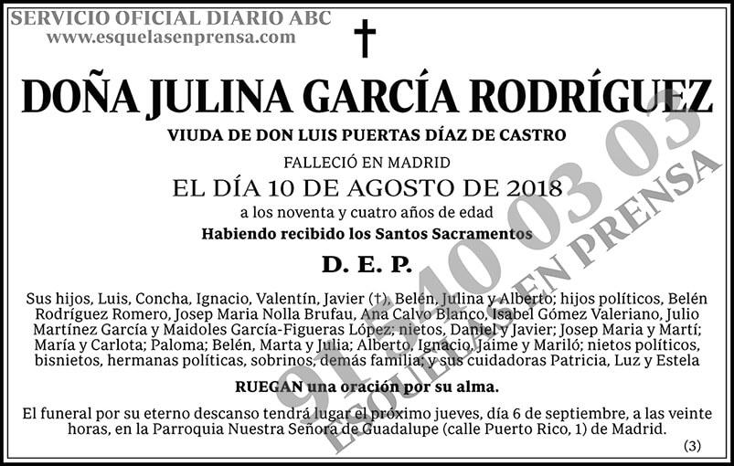 Julina García Rodríguez